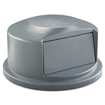 Round Brute Gray Dome Top for 44 Gallon Containers