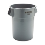 Round Brute Gray Container without Lid - 55 Gallon
