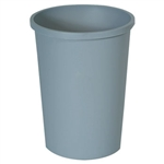 Untouchable Round Gray Waste Container - 44.38 Qt.