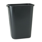 Deskside Rectangular Large Black Wastebasket - 41.25 Qt.