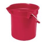 Brute Red Round HDPE 10.25 in. L x 10.5 in. Dia Graduated Buckets