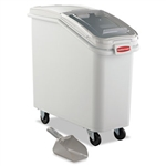 ProSave Slant Front White Mobile Ingredient Bin - 29.2 in.
