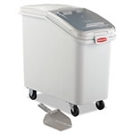ProSave Slant Front White Mobile Ingredient Bin - 29.5 in.