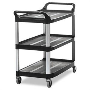 Open Sided Black Utility Cart - 300 lb.