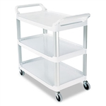 Open Sided Off White Utility Cart - 300 lb.