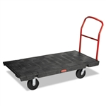 Heavy Duty Black Polyolefin Wheel Platform Truck - 2000 lb.