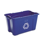 Rectangular Blue Recycle Bin - 18 Gallon