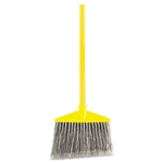 Flagged Polypropylene Fill Angled Large Gray Broom