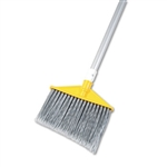 Angled Large Aluminum Handle Silver Broom