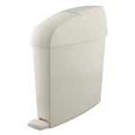 White Rectangular Sanitary Bin - 3 Gallon