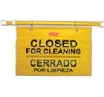 Rubbermaid Yellow Plastic Multilingual Hanging Site Safety Signs