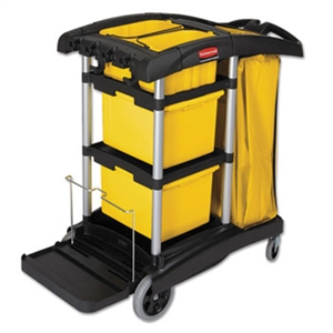 Hygen Microfiber Black Cleaning Cart - 48.2 in. x 22 in.