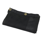 Fabric Mesh Black Linen Bag
