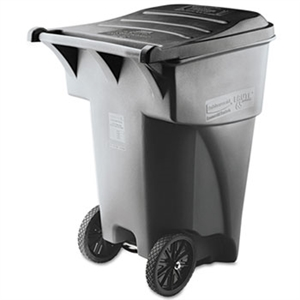 Brute Roll-Out Heavy Duty Gray Waste Container - 95 Gal.