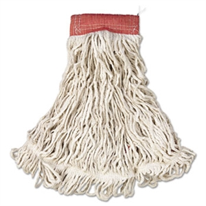 Web Foot 5 in. Red Head Band Large White Wet Mop