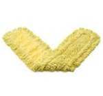 Trapper Looped-End 5 in. W x 24 in. L Yellow Yarn with Yellow Backing Dust Mops