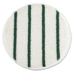 Low Profile Carpet White Bonnet with Green Scrub Strips - 19 in.