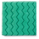 Microfiber General Purpose Green Cloth - 16 in. x 16 in.