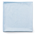 Hygen Microfiber Bathroom Glass Blue Cloth - 16 in. x 16 in.