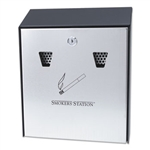 Smokers Station Wall Mounted Smoking Receptacle - 10 in. x 3 in.