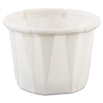 Treated Paper White Souffle Portion Cup - 0.5 oz.