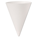 Bare Treated Paper Cone White Water Cups - 7 oz.