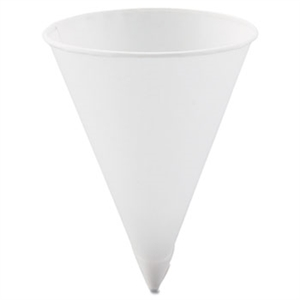 White Rolled Rim Cone Water Cup - 4.25 oz.