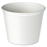 Waxed Double Wrapped White Paper Bucket - 83 oz.