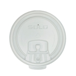 Liftback and Lock Tab White Lid for 8 oz. Cups