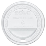 Traveler White Dome Lid for 10 oz. Cups
