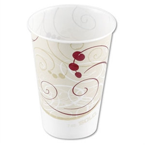 Symphony Wax Coated Paper Cold Cup - 7 oz.