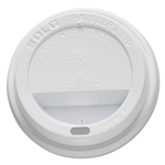 Traveler Dome Drink-Thru White Lid for 10 oz. Hot Cups