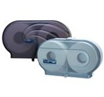 Oceans Duett Standard Black Twin 2 Rolls Capacity Bath Tissue Dispensers