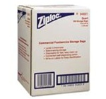 Ziploc Plastic Clear 1.75 mil Storage Bags in Dispensing Cartons