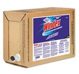 Windex Ready-To-Use Bag-in-Box Cleaner, 5 gal Bag-In-Box, Clear Blue, Liquid, Scent: Ammonia