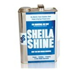 Sheila Shine Cleaner and Polish, 1 gal Bottle, Clear, Liquid, Scent: Wintergreen