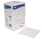 Tork Universal Beverage Napkins, 1 Ply, 9.38in.Wx9.38in.L, White