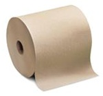Tork Universal Roll Towels, 1 Ply, 7.75in.Wx600ft.L, 6.7in.Dia, Natural, Hardwound Roll