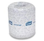 Tork Universal Bathroom Tissue, 2 Ply, 3.75in.Wx4in.L, White, Roll