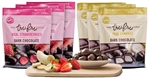 Tru Fru Strawberries and Bananas Dark Chocolate Tropical Pack