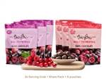 Tru Fru Real Raspberries and Cranberries Dark Chocolate Superfruit Pack