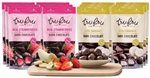 Tru Fru Real Strawberries and Bananas Dark Chocolate Tropical Pack - 12 Pack