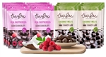 Tru Fru Real Raspberries and Coconut Melts Dark Chocolate Best Seller Pack