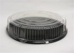 Cometware Clear 18 in. Dia. Dome Tray Lids