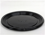 CaterLine Round Thermoformed Platter Black - 12 in.