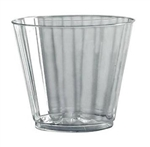 Classicware Squat Fluted Tumbler Clear - 9 Oz.