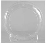Designerware Dinner Plates, 10.25in. Dia, Round, Clear