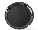 Designerware Black Plastic Plate - 9 in.