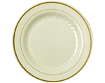 Masterpiece Ivory with Printed Gold Line Plate - 7.5 in.