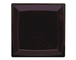 Milan Square Dinner Plate Black - 9.25 in.